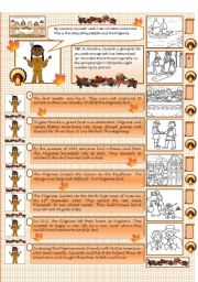 English Worksheets: The First Thanksgiving
