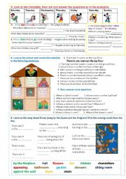 English Worksheet: Muzzy in Gondoland - part 5 - 8 tasks - 2 pages
