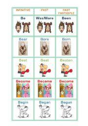 irregular verbs-memorygame