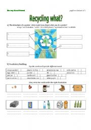 English Worksheet: The first worksheet from a lesson plan on recycling using modals