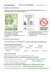 English Worksheet: The second step of a lesson plan on recycling