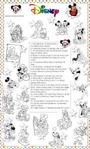 English Worksheet: Disney