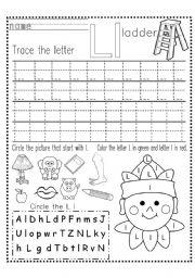 math worksheet : english worksheets tracing worksheets : Letter L Worksheets Kindergarten