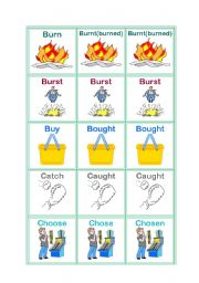 irregular verbs part 2-memorygame