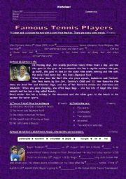 English Worksheet: Tennis players