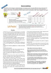 English Worksheet: Summarizing with SpongeBob