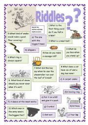 English Worksheet: Riddles