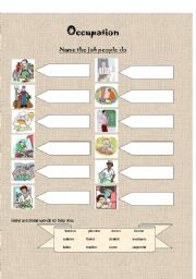 English Worksheets: Learning Occupation