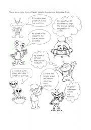 English Worksheet: Planets