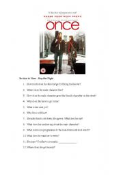 English Worksheets: Once Movie Extract