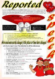 English Worksheet: REPORTED SPEECH (Part 4)