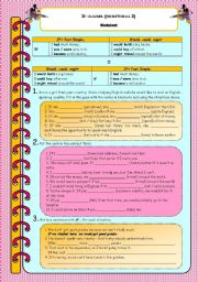 English Worksheet: If-clauses (conditional 2)