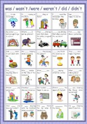 English Worksheet: review (past)