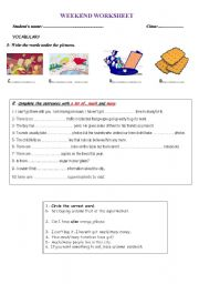 English Worksheet: ALOT OF, MUCH, MANY