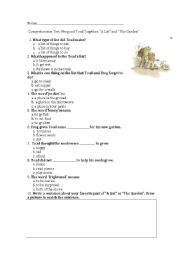 Printables Frog And Toad Worksheets english worksheets frog and toad together list the worksheet list