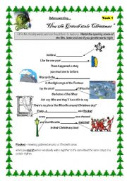 English Worksheet: How the Grinch stole Christmas
