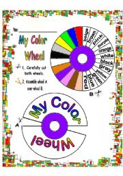English Worksheets: MY Color Wheel