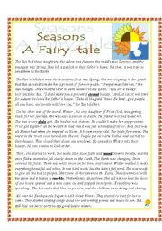 graphic about Printable Fairy Tales Pdf identified as Seasons ( A Fairy-story) : A Thorough Venture with a lot of assignments