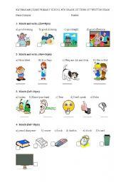 English Worksheet: 4th grade exam/worksheet
