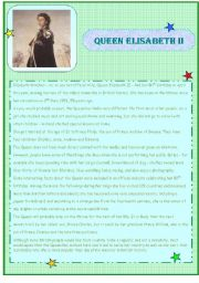 English Worksheets: Queen Elisabeth II