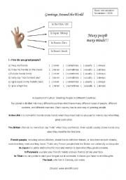 English Worksheets: Conversation class based on the topic