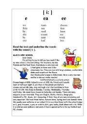English Worksheets: sound i: