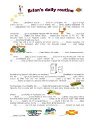 English Worksheets: Brian� s daily routine