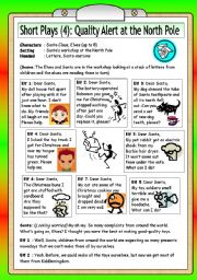 English Worksheet: Short Plays (4): Quality Alert at the North Pole