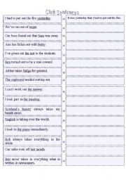 Cleft Sentences