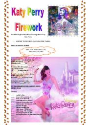 English Worksheets: Katy Perry �firework�