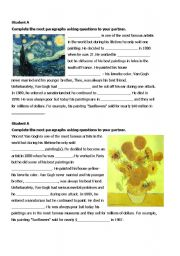 Vincent Van Gogh - reading pair work