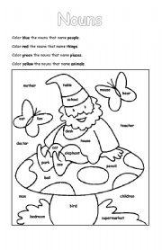English Worksheets: Nouns Worksheet