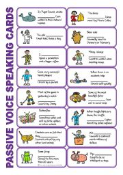English Worksheet: SET 6: Passive voice / tenses / adverbs of frequency / irregular verbs / modals - worksheet OR speaking activity (purple series) + KEY for ws 1-6