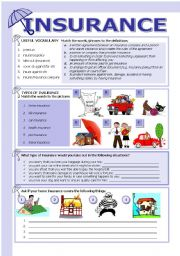 Insurance esl worksheet by tecus english worksheet insurance thecheapjerseys Image collections