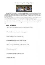 English Worksheet: Grey´s anatomy