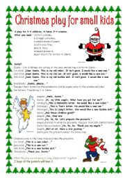 Christmas play for small kids - ESL worksheet by Kvetka27