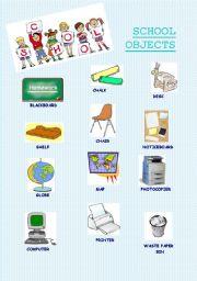 English worksheet: School objects 1