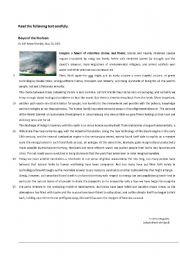 English Worksheet: 11th grade test - Beyond the Horizon