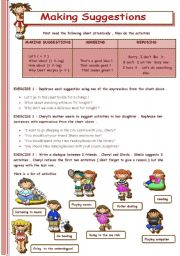 English Worksheet: MAKING SUGGESTIONS