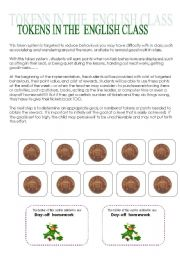 English Worksheets: Tokens - Reward System
