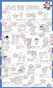 English Worksheet: What�s your favorite?