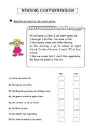 english teaching worksheets reading comprehension. Black Bedroom Furniture Sets. Home Design Ideas