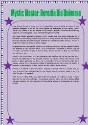 English Worksheets: Reading comprehension jorge jimenez