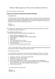 English Worksheets: Requesting information, Suggestions, Offers