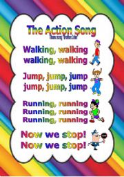 English Worksheets: The Action Song