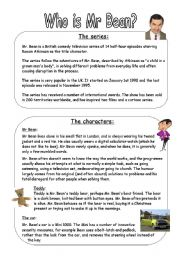English Worksheets: Who is Mr Bean?