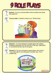 English Worksheet: 9 Role Plays