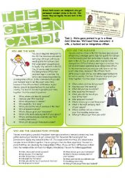English Worksheets: The Green Card Alibi Game