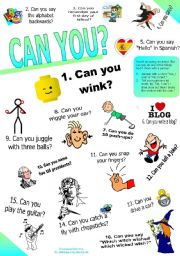 English Worksheet: Can you? SET 2. (Ability: Questions & Answers)