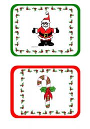 Christmas Flashcards part 1 of 2